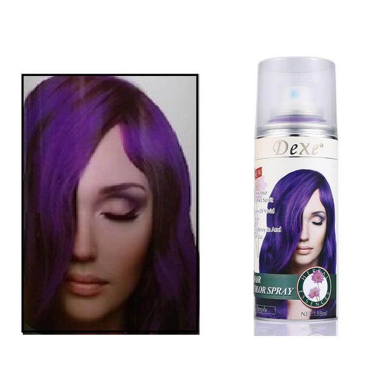 138ml Purple Color Dexe Hair Color Spray Temporary Hair Dye Herbal  Ingredient Color Dexe Hair Color Spray