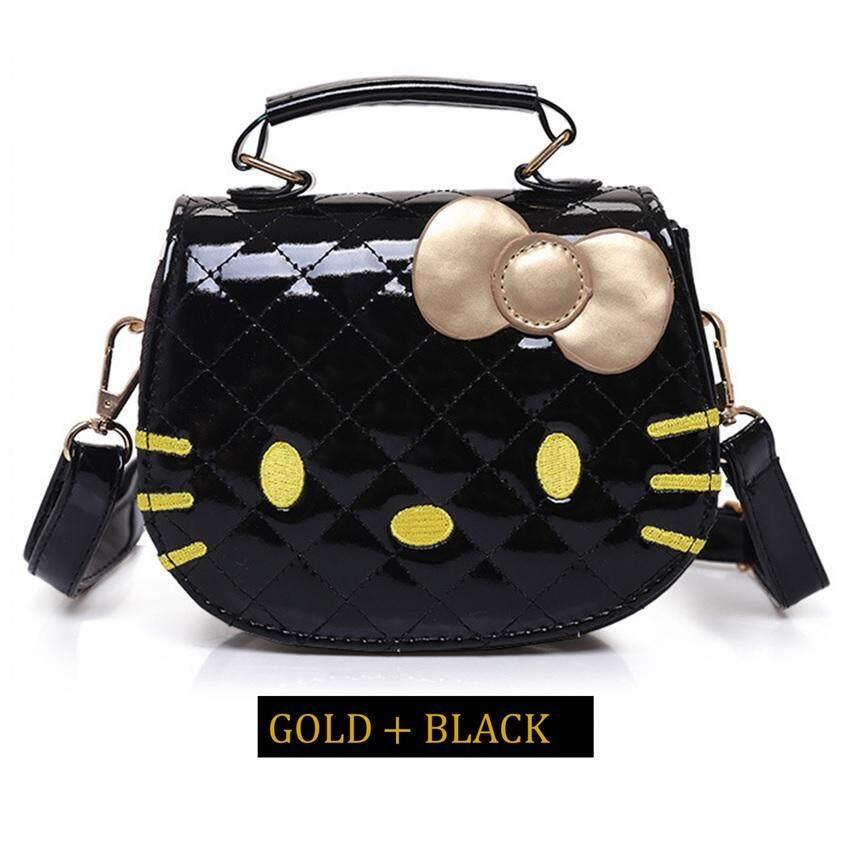 Girl Cartoon Design Cute Hello KT Cat Quilt Handbag Tote Bag Sling Bag