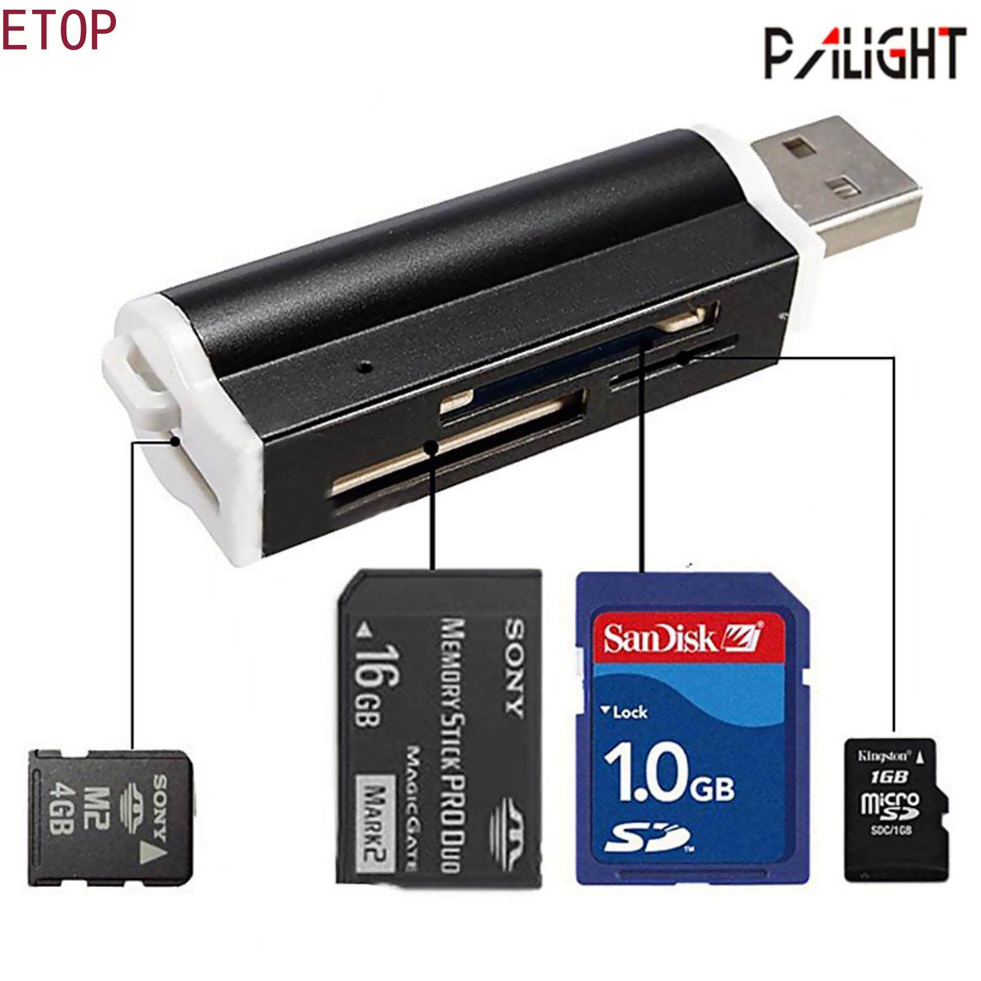 Multi-Colored Usb2.0 Memory Card Reader For Micro Sd Mmc Sdhc Tf Card By Etop Store.