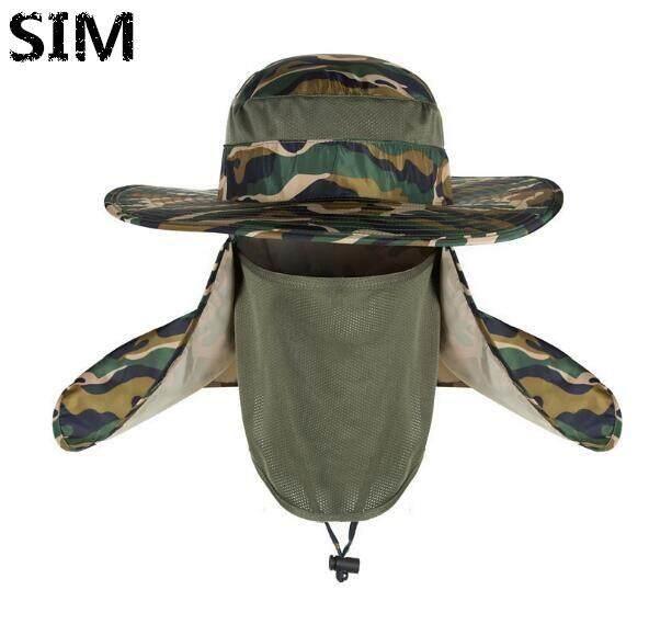 740c5796 SIM UV Protection Face Neck Cover Fishing Sun Protcet Cap Hiking Camping  Visor Hat