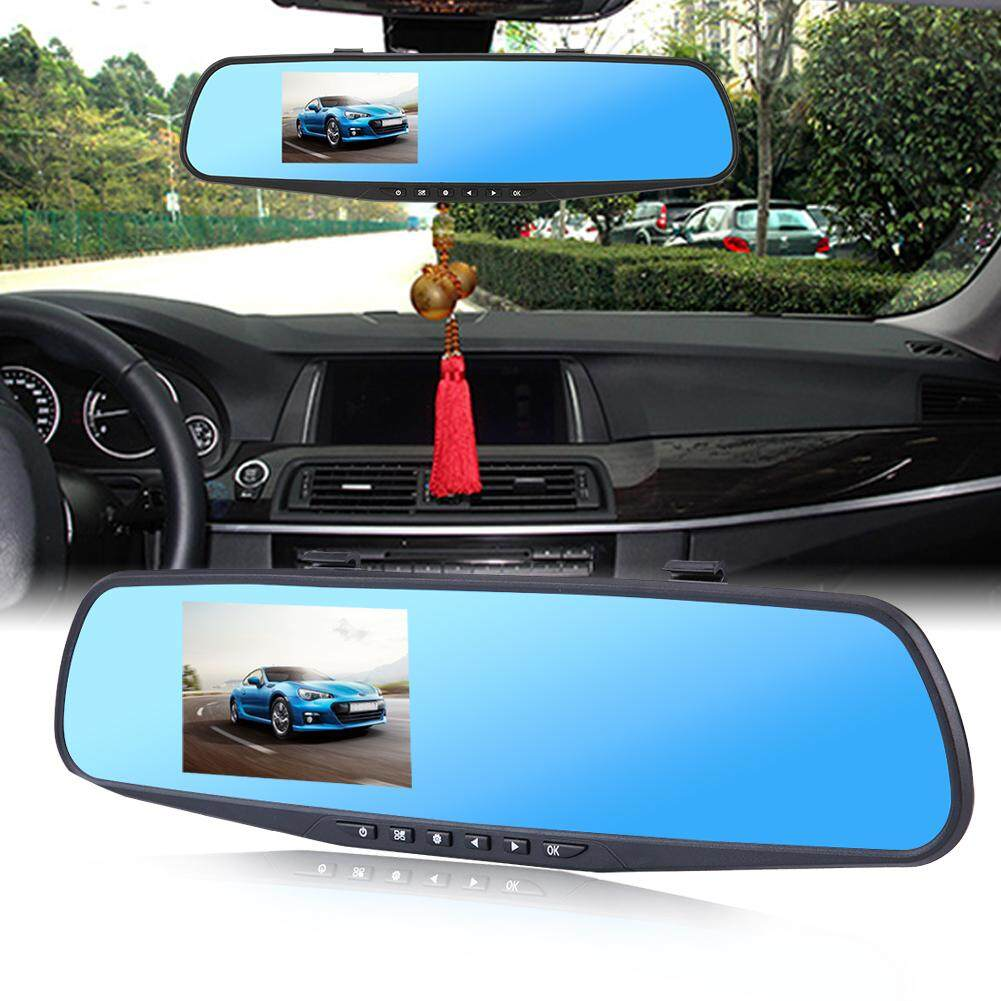 2 8Inch 1080P HD Car DVR Rearview Mirror Camera Driving Video Recorder