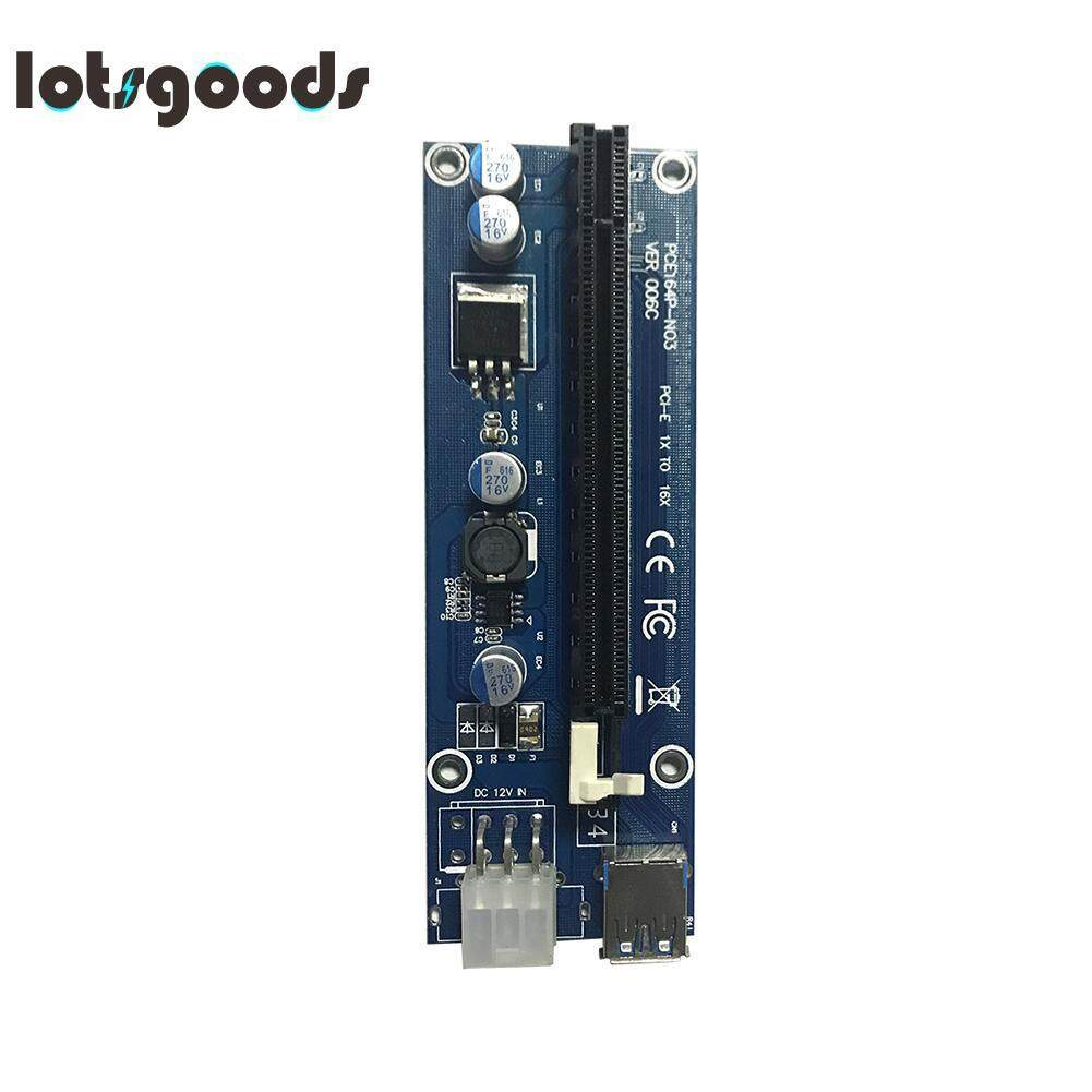 Usb 3.0 Pci-E Express 1x Extender Riser Card Adapter 6pin Cable By Lotsgoods.