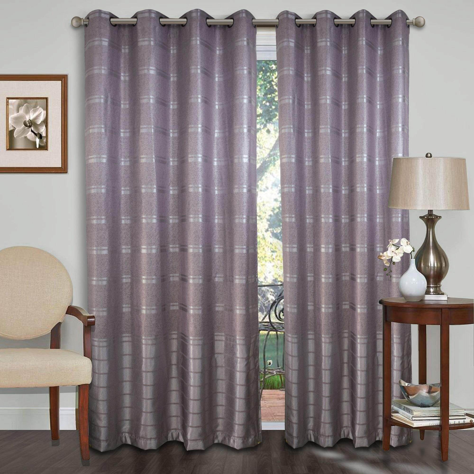 1 Piece Essina Eyelet Curtain Premium Blackout 100cm X 260cm Ariana Fit Window