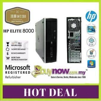HP Compaq Elite 8000 (SFF) Desktop PC (Factory Refurbished), C2D, 2GB RAM, 160GB HDD,