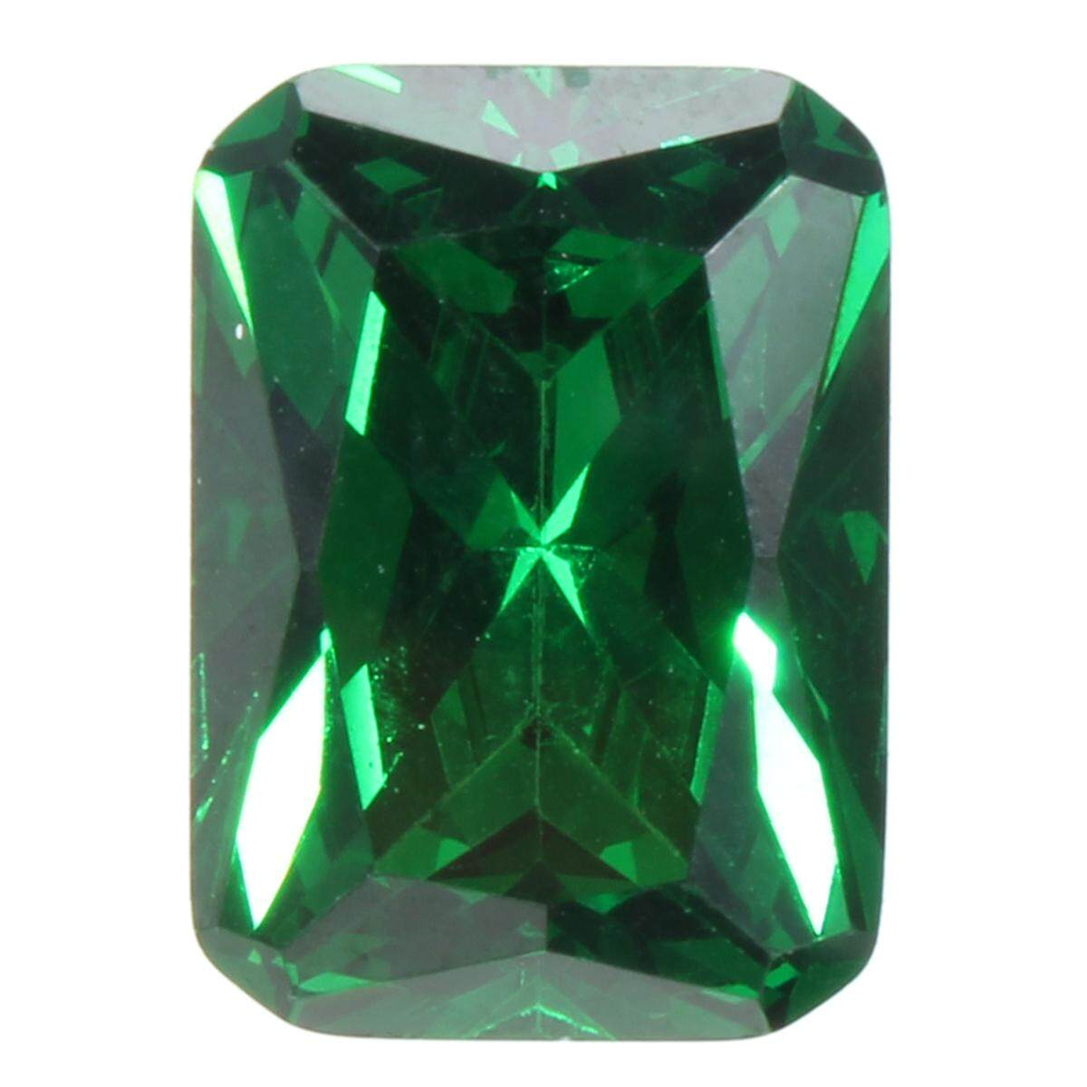 Unheated Dazzling 9.08ct Green Sapphire 10x14mm Diamond Emerald Loose Gemstone By Freebang.