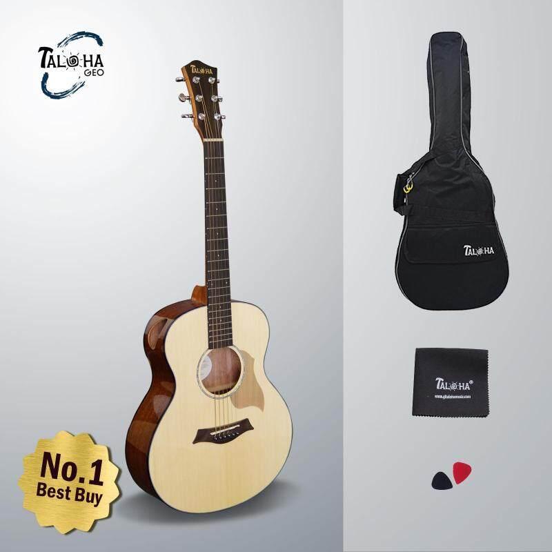 Taloha Geo Series Baby Geo 36 Inch Acoustic Guitar + Free Guitar Bag + Free Polishing Cloth + FREE 2 Picks Malaysia