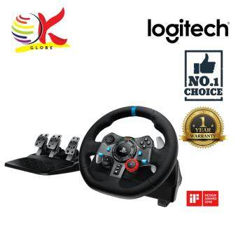 LOGITECH G29 DRIVING FORCE RACING WHEEL CONTROLLER LEATHER WHEEL DUAL MOTOR FORCE FEEDBACK ADJUSTABLE FLOOR PEDALS