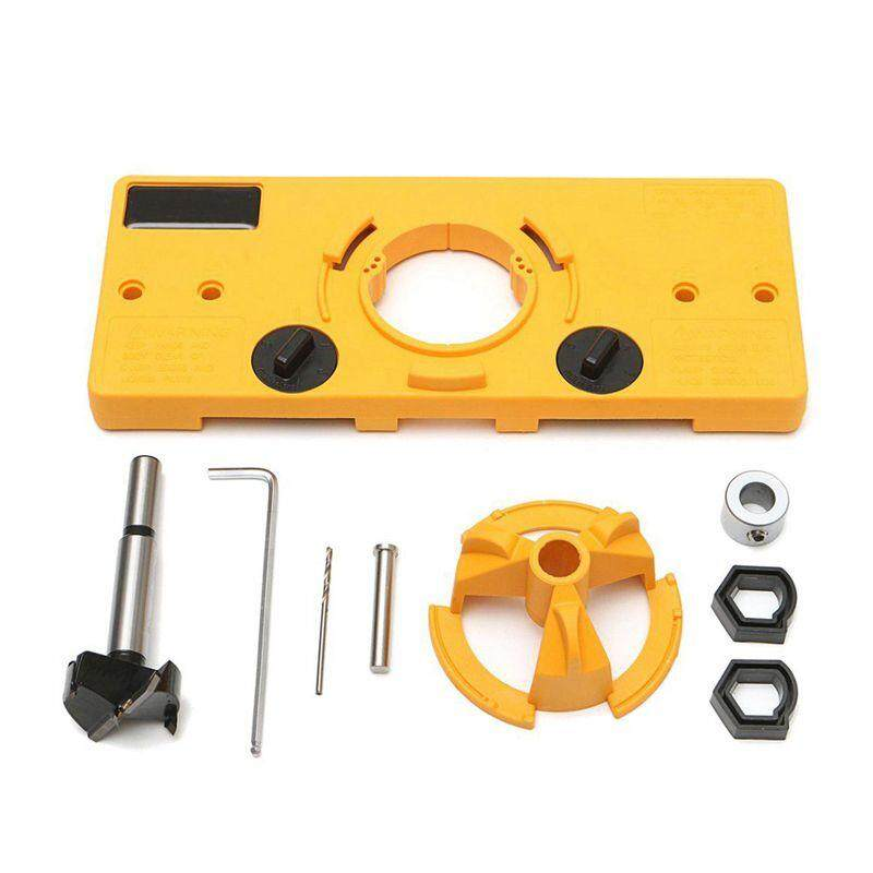 35MM Cup Style Hinge Boring Jig Drill Guide Set Door Hole Template For Kreg Tool