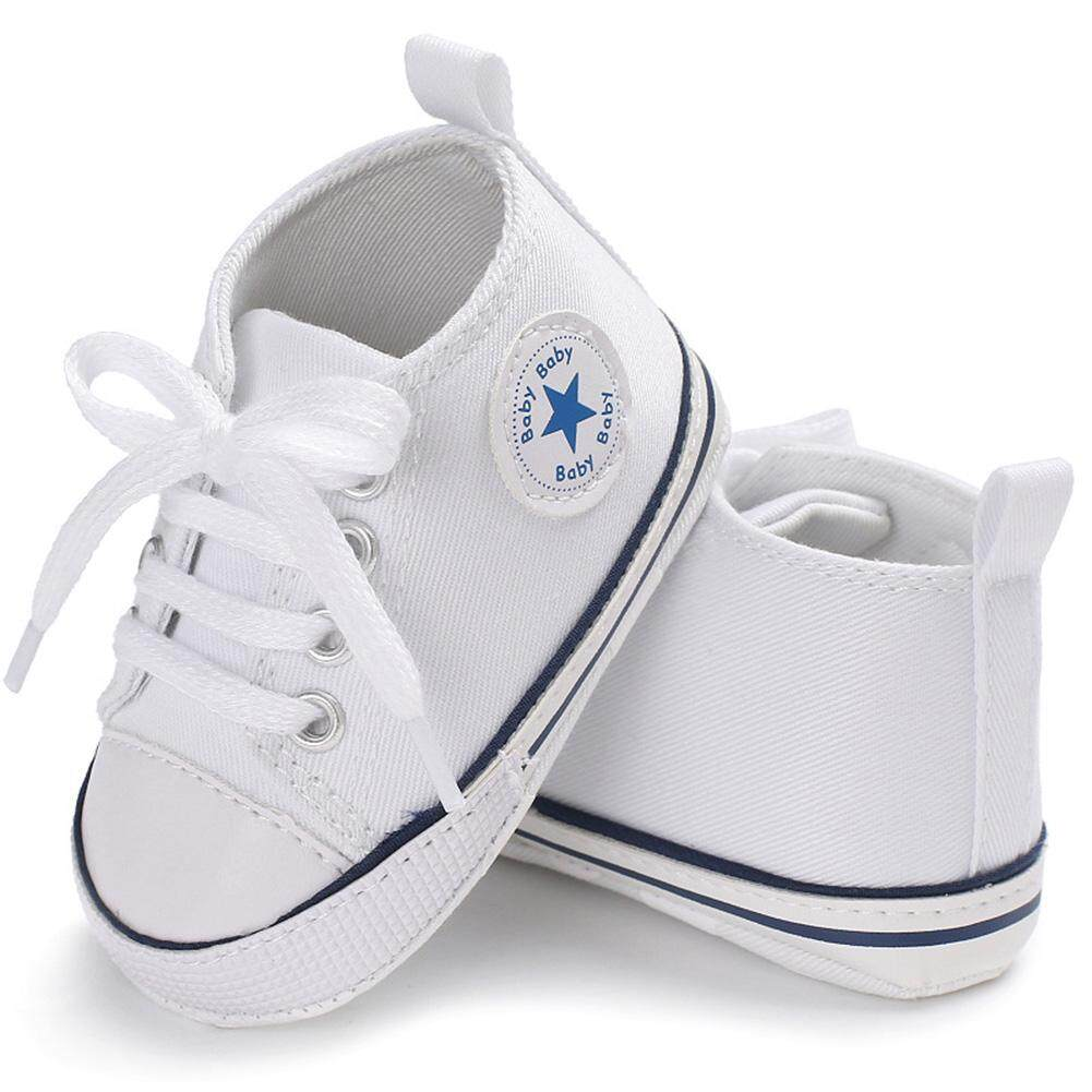 c581311e885b2 ZJ Sports Sneakers Newborn Baby Boys Girls First Walkers Shoes Infant  Toddler Soft Sole Anti-slip Baby Shoes Soft Sole Fashion Canvas Infant  Toddler ...