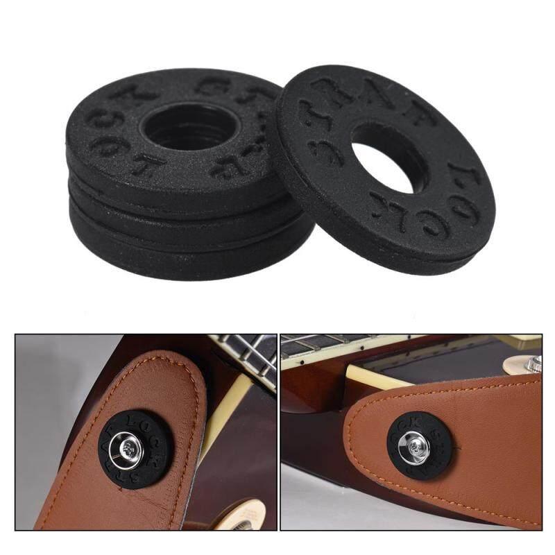 4pcs Bass Guitar Strap Locks Blocks Rubber Material Guitar Parts Accessories Malaysia