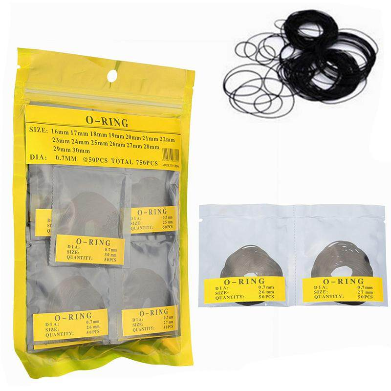 750 Pcs 0.7MM O-Ring Watch Back Gasket Rubber Seal Washers Size 16 mm - 30 mm Malaysia