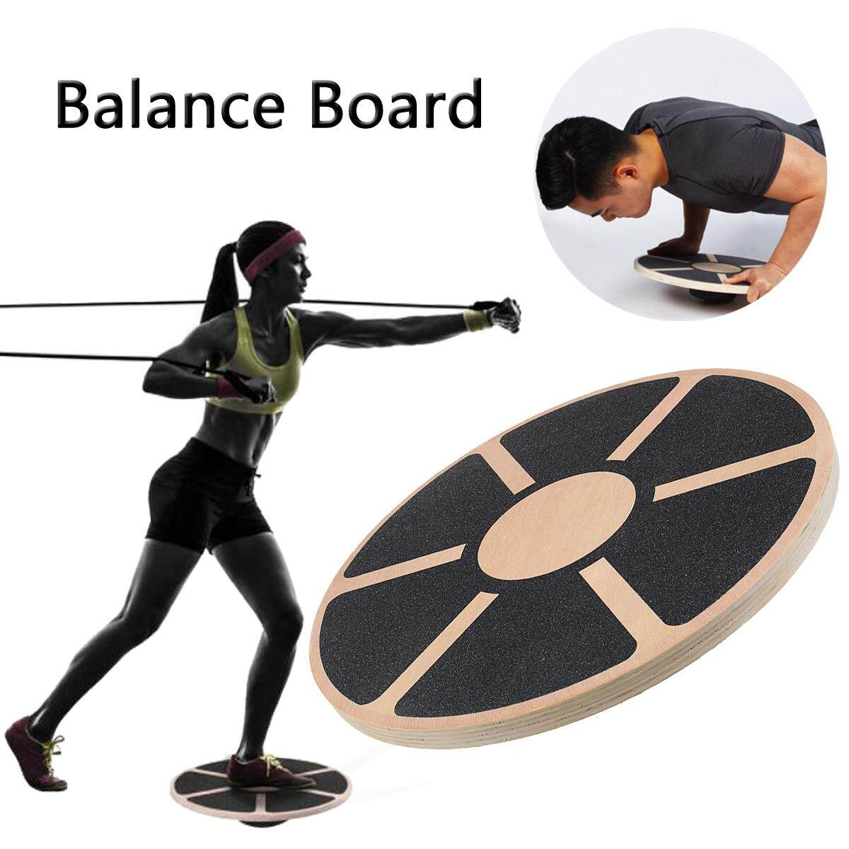 Letek Wooden Wobble Board Non-Slip Balance Training Exercise Rehabilitation Aid By Teamwin.