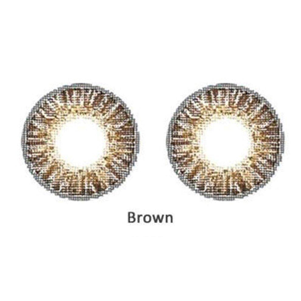 Popo 2pcs/set Beautiful Fashionable Soft Big Eye Makeup Coloured Contact Lenses Brown By Bulapopo.