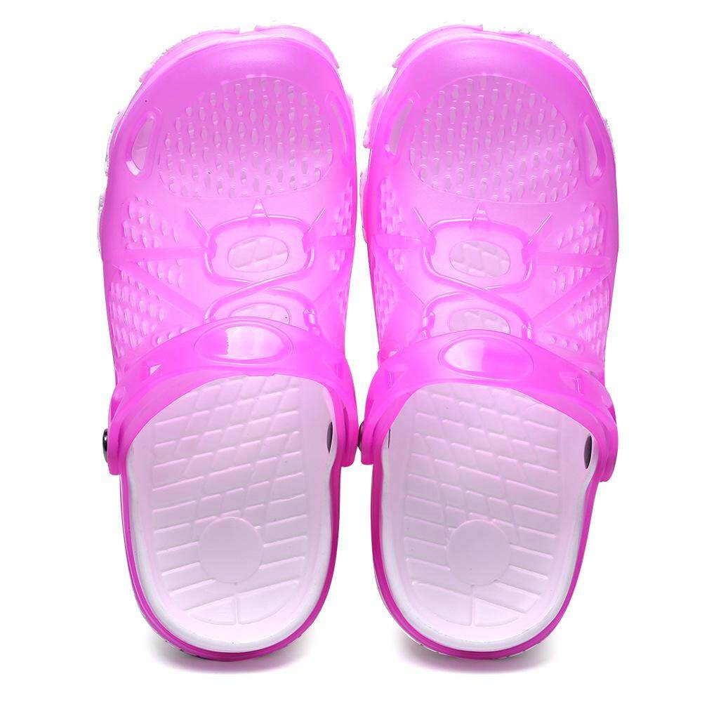 Hole Shoes Plastic Sandals Jelly Color 2018 Summer New Non-slip Girl Big Children Beach