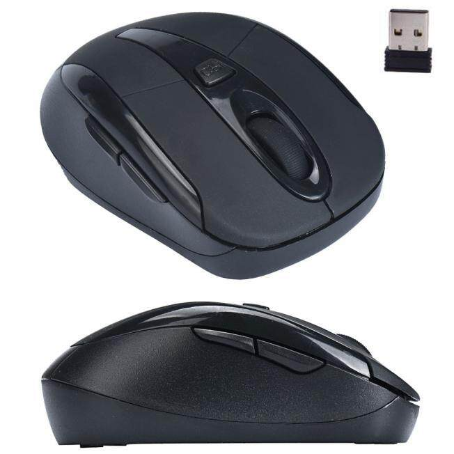 Malloryshop Portable 2.4G Wireless Optical Mouse Mice For Computer PC Laptop Black Malaysia