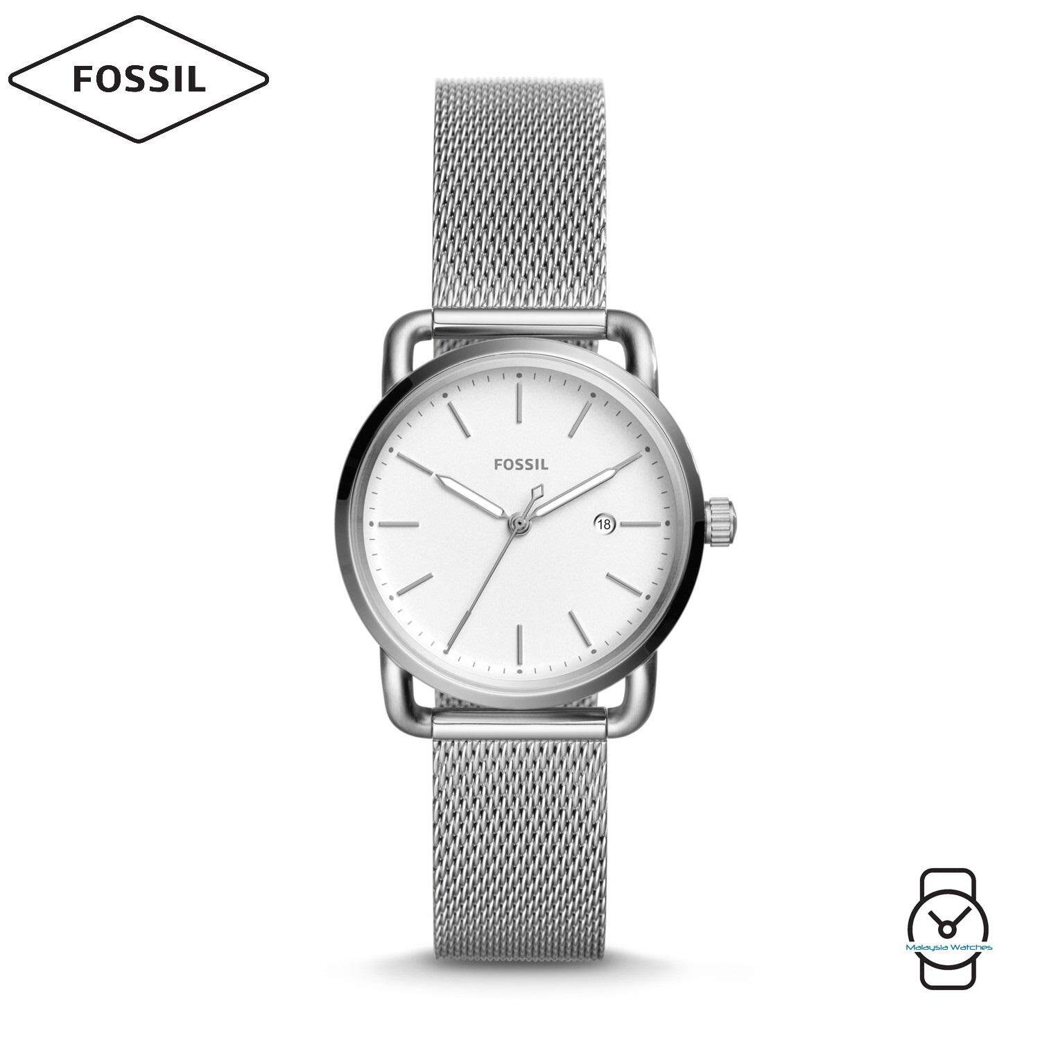 Fossil Watches Price In Malaysia Best Lazada Jam Tangan Neutra Chronograph Stainless Steel Fs5384 Women Es4331 The Commuter White Dial Watch Silver
