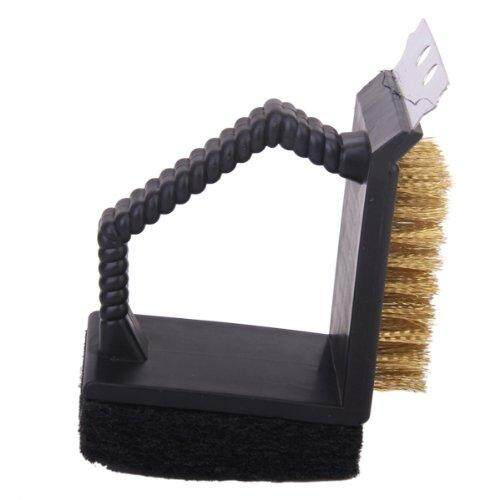 3 in 1 barbecue grill cleaner shovel sponge cleaning brush