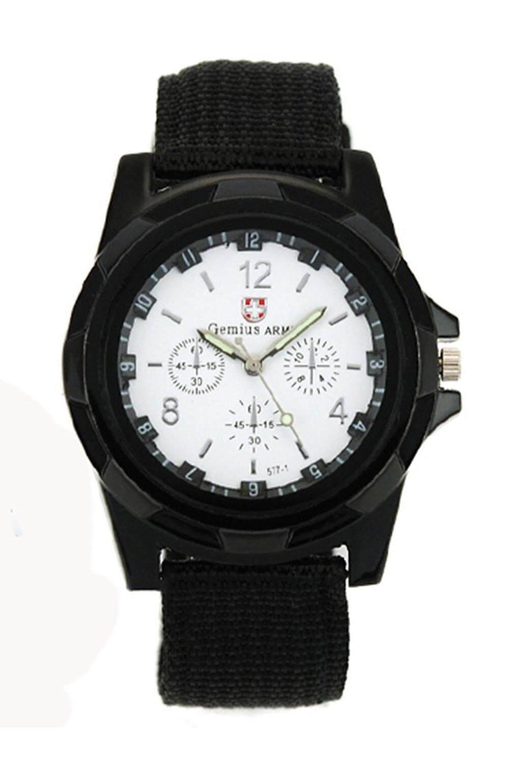 Sport Style Canvas Belt Quartz Wrist Watch (White) Malaysia