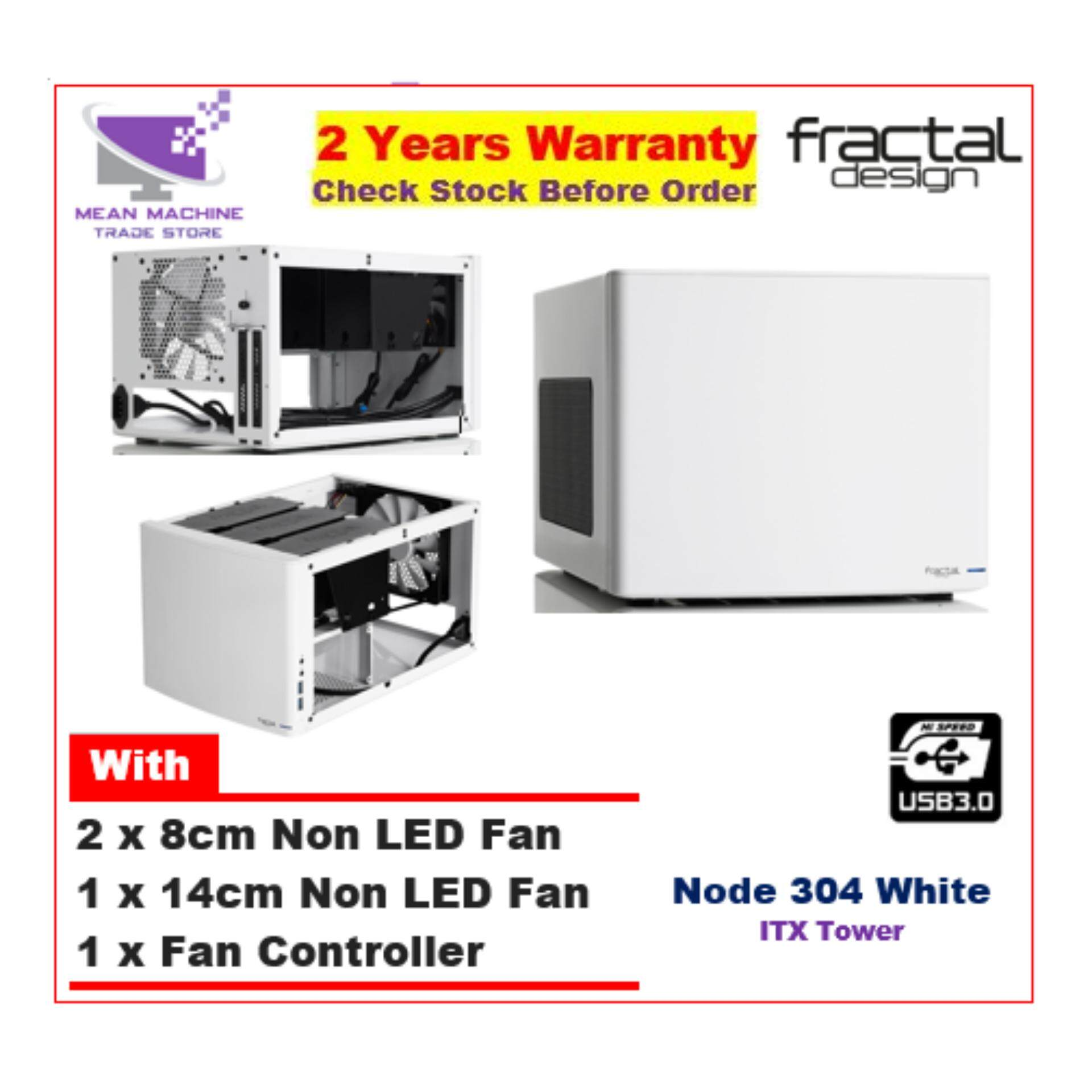 #Fractal Design Node 304 White Mini ITX Chassis (3 Fan Included) # Malaysia