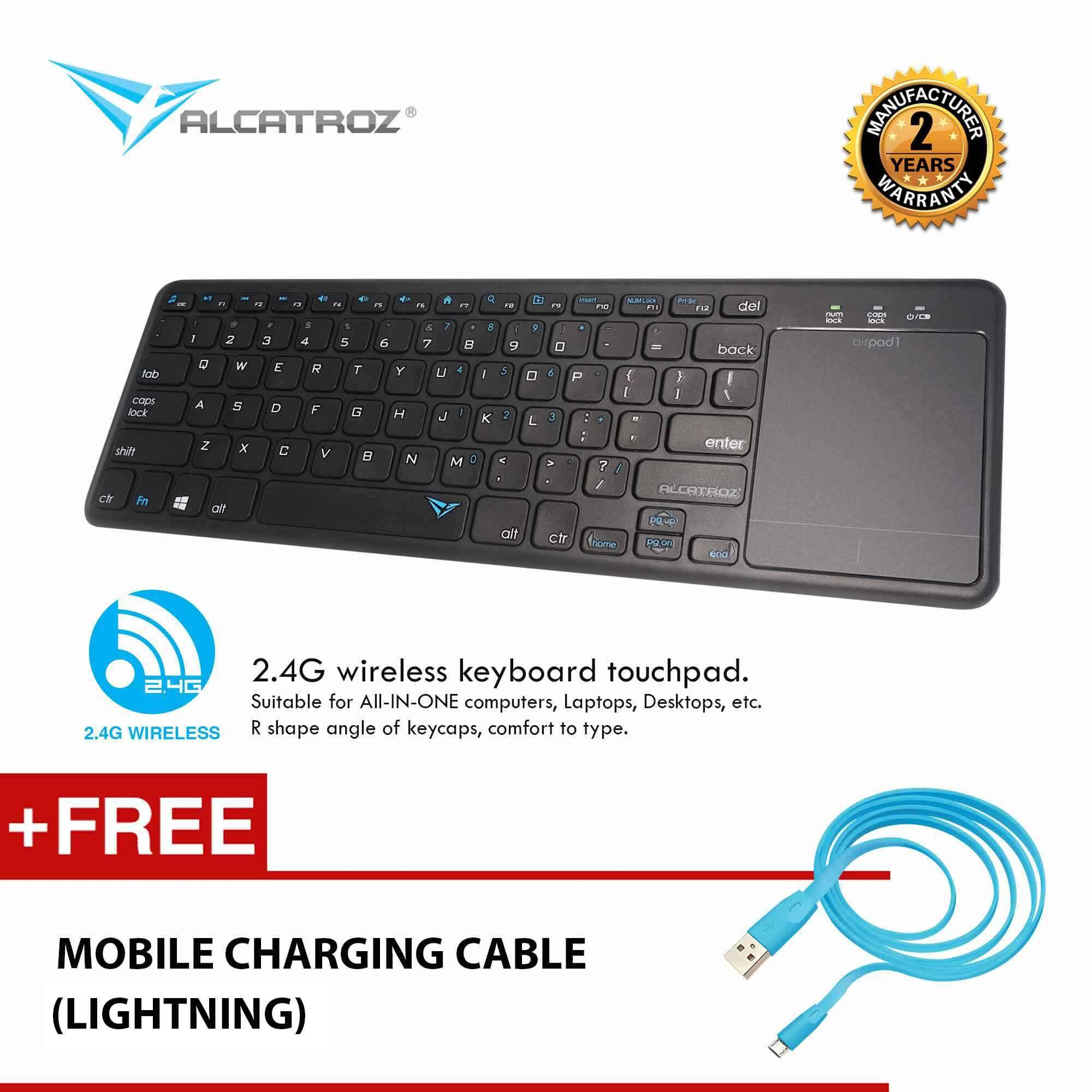 Alcatroz AirPad 1 Wireless Keyboard With Touchpad for Smart TV & puter PS4 Keyboard patible