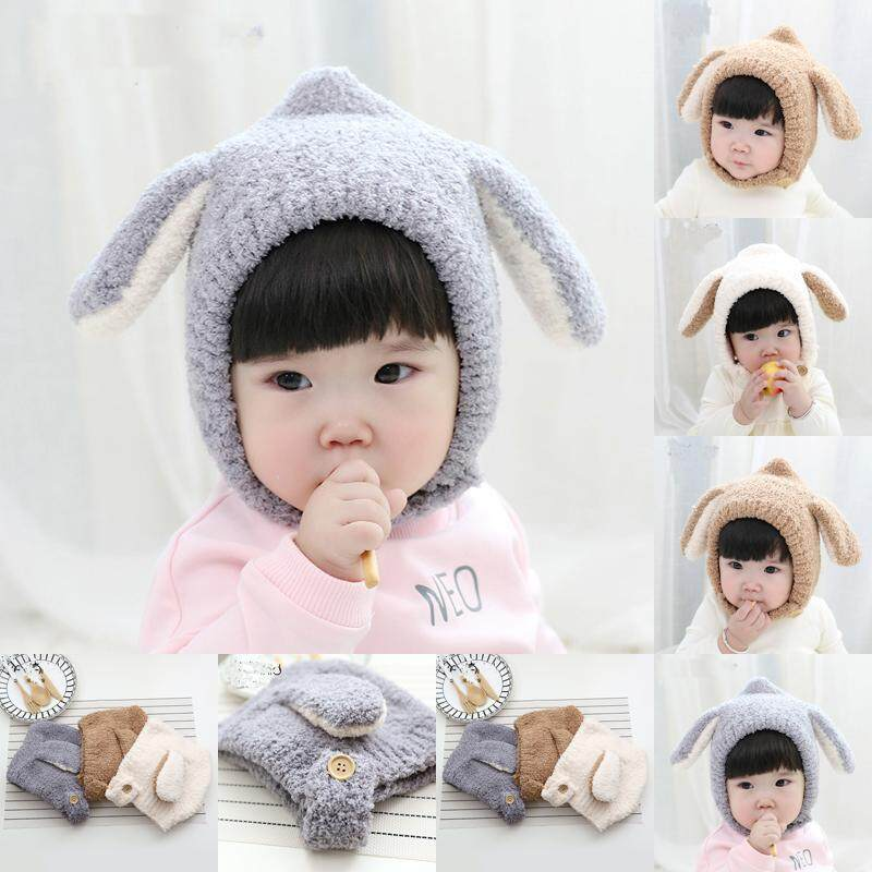 bc84b7cb9b3 Pudcoco Cute Winter Baby Kids Girls Boys Cotton Warm Lovely Animals Woolen  Coif Hood Scarf Caps