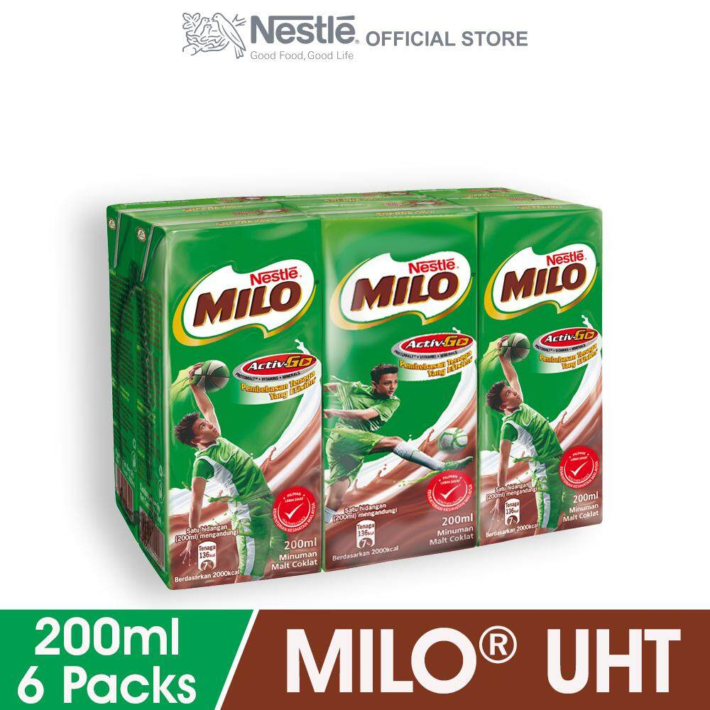 Milo Products For The Best Price In Malaysia Sachet Activ Go Rtd 6 Packs 200ml Each