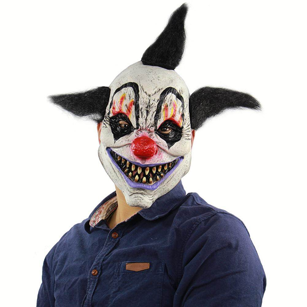 Halloween Mask Scary Clown Mask Latex Costume Head Mask for Halloween Party Prop Malaysia