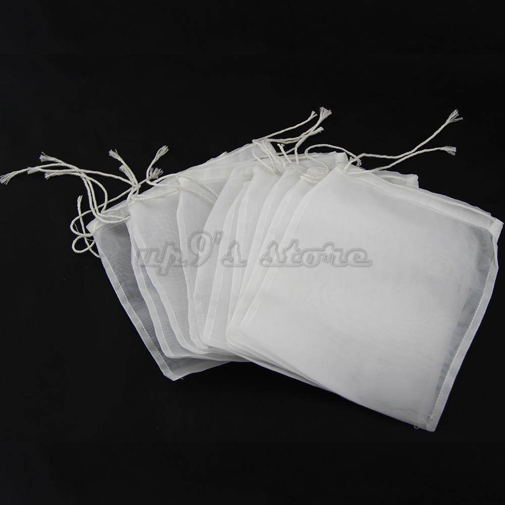 5pcs 100 Micron Nylon Homebrew Food Grade Grain Hops Boiling Filter Bag 15x 20cm Batch Homebrew Beer Wine Coffee Bucket Filter By Up100.