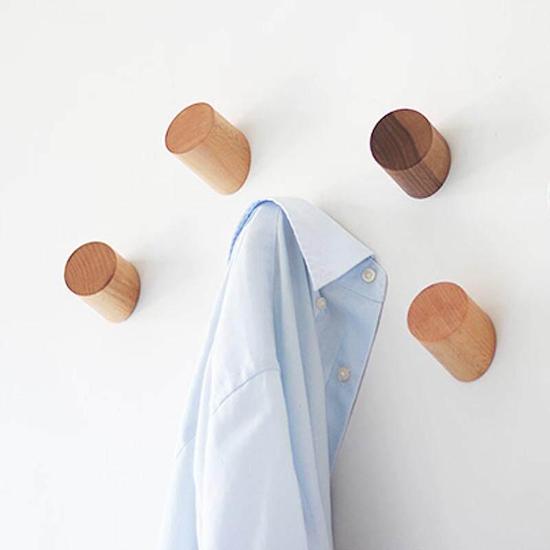 Solid Oak Wooden Wall Hook Peg Hallway Coat Modern Hanger