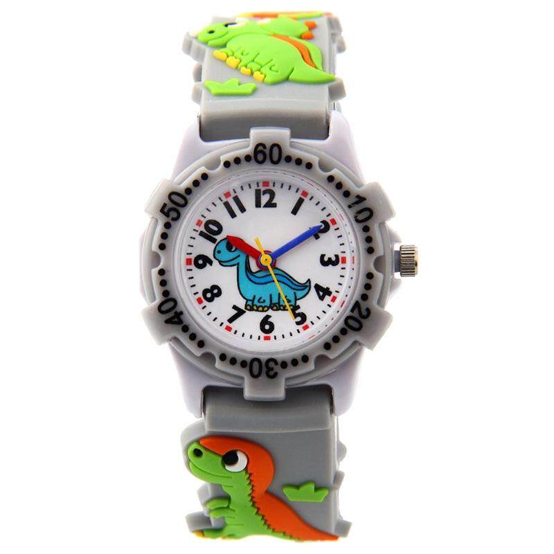 WILLIS Kids Time watch Pattern Plastic Shell Silicone Strap Cartoon Watch grey Malaysia