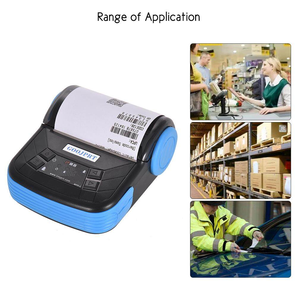 (Free Shipping Fee)(Flash Sale)GOOJPRT MTP-3 80mm BT Thermal Printer  Portable Lightweight for Supermarket Ticket Receipt Printing