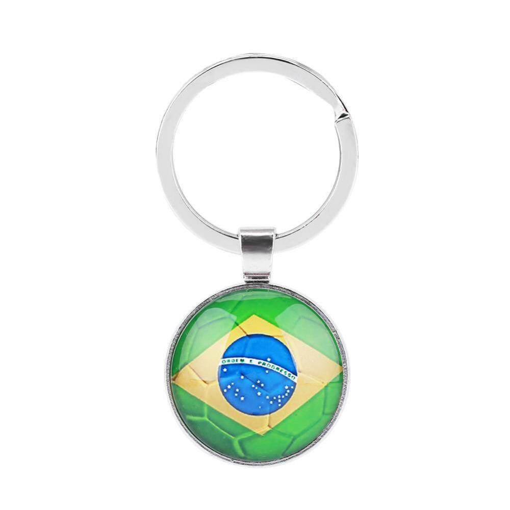 38eaa7eb760 National Flag Key Chain Holder Ring Keyring with Metal Pendant for World Cup  (Brazil)