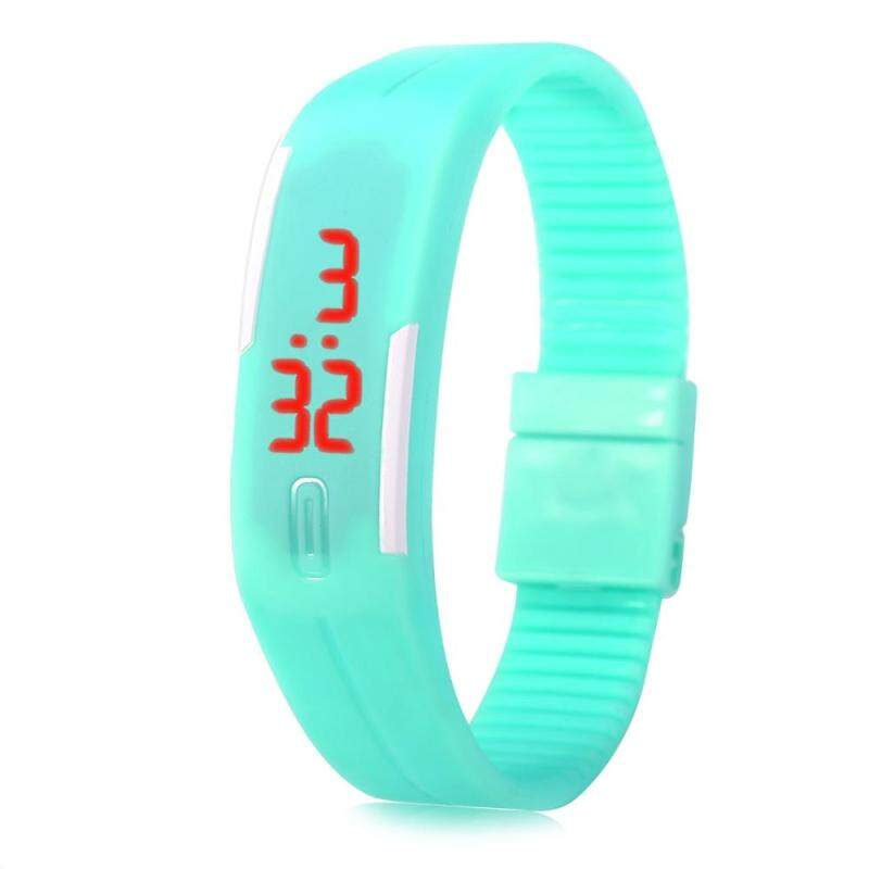 LED Watch Date Red Digital Rubber Wristband Rectangle Dial Malaysia