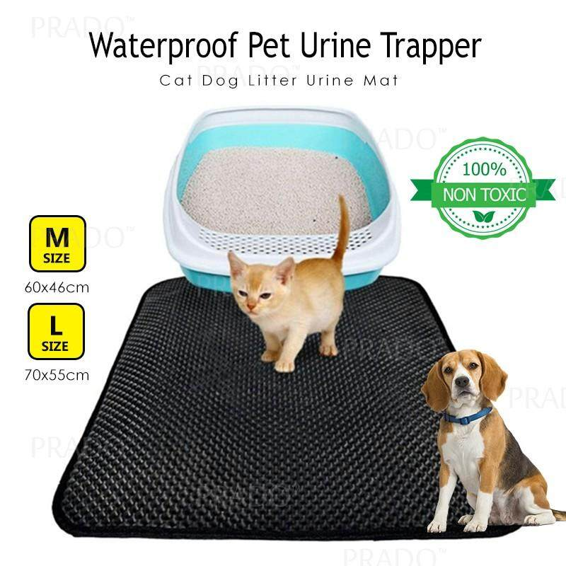 Prado 60x46cm Medium Waterproof Washable Pet Mat Cat Dog Litter Urine Trapper Folding Pad For House Or Car Seat M Size By Prado.