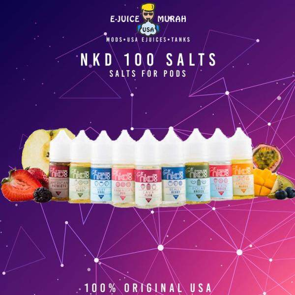 ORIGINAL USA NKD 100 SALT NAKED 100 30ML E-LIQUID FOR POD EURO GOLD CUBAN BLEND Malaysia