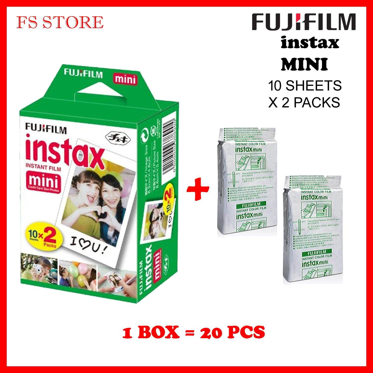 Instax Mini Film Twin Pack (20pcs) Fujifilm Expired 2020 By Fs Store.