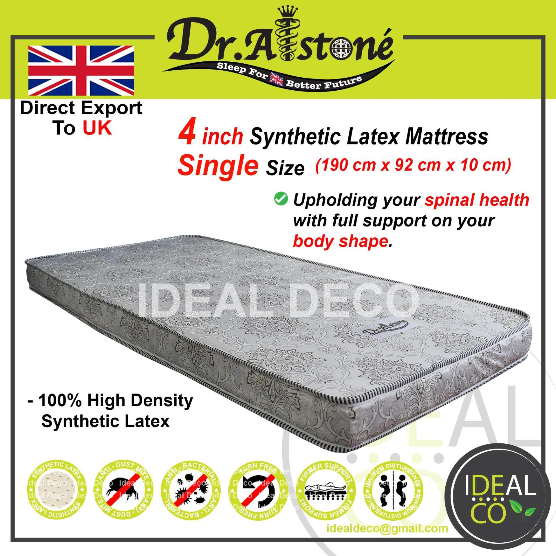 *special Promo* Dr.alstone (edition Export To Uk) 4 Inch Single Synthetic Latex Mattress By Ideal Deco.