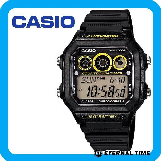 (2 YEARS WARRANTY) CASIO ORIGINAL AE-1300WH-1AV YOUTH DIGITAL WATCH Malaysia