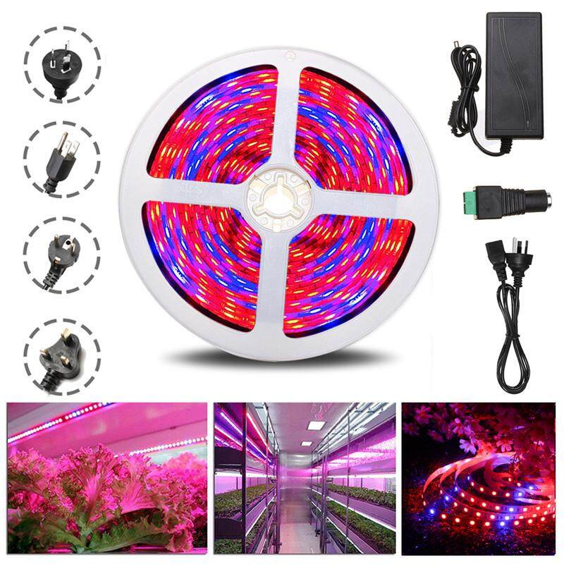 5m Waterproof 5050 SMD 300 LED LED Plant Grow Strip Light Kit Full Spectrum Red Blue 4:1 Lighting Ribbon For Greenhouse Hydroponic Plant Garden Flowers Waterproof IP65