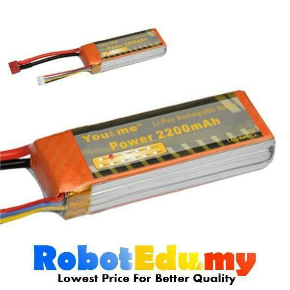 Arduino You&Me 11.1V 3S 2200mAH 30C Rechargeable LiPo Battery
