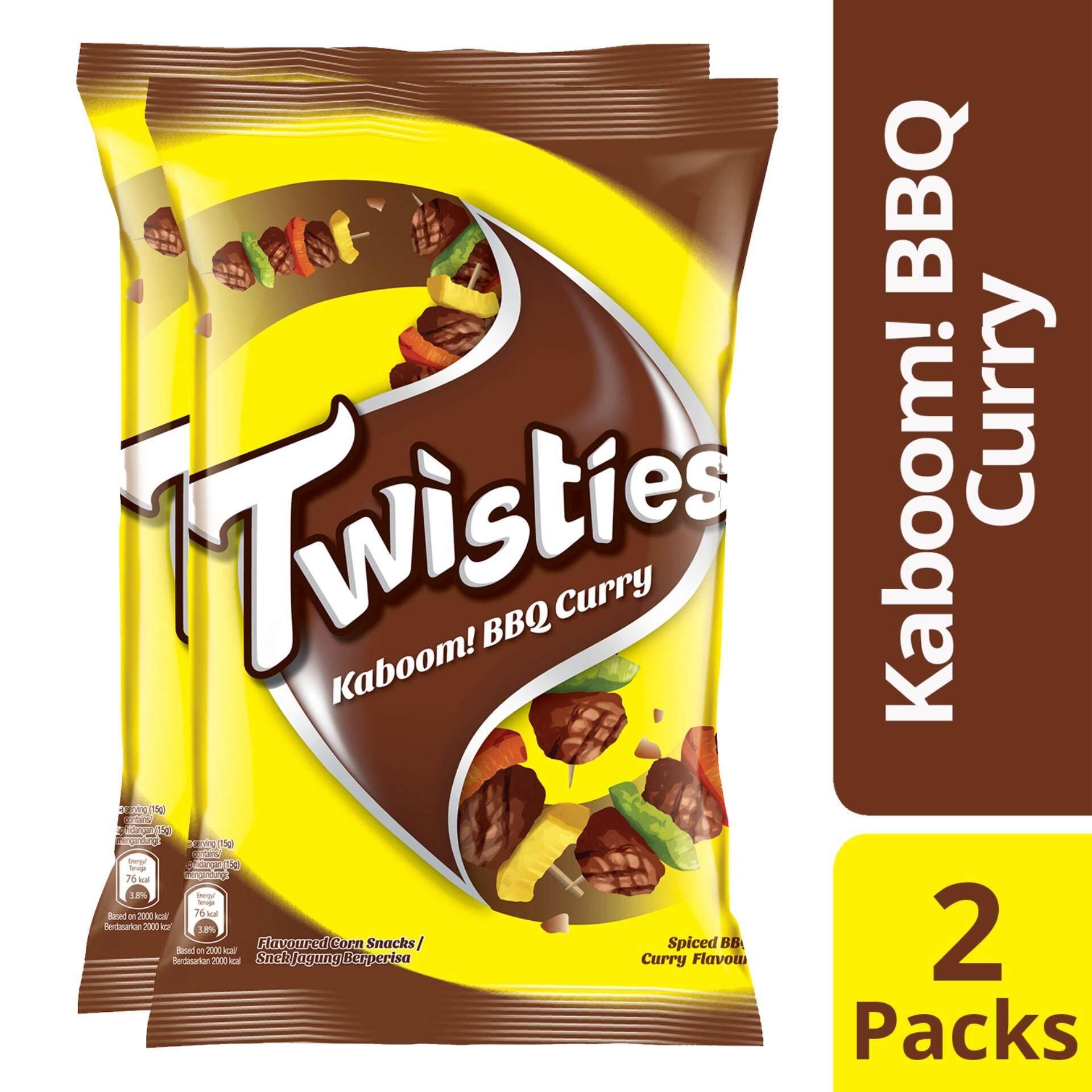 Twisties Kaboom! BBQ Curry 160g X 2 packs