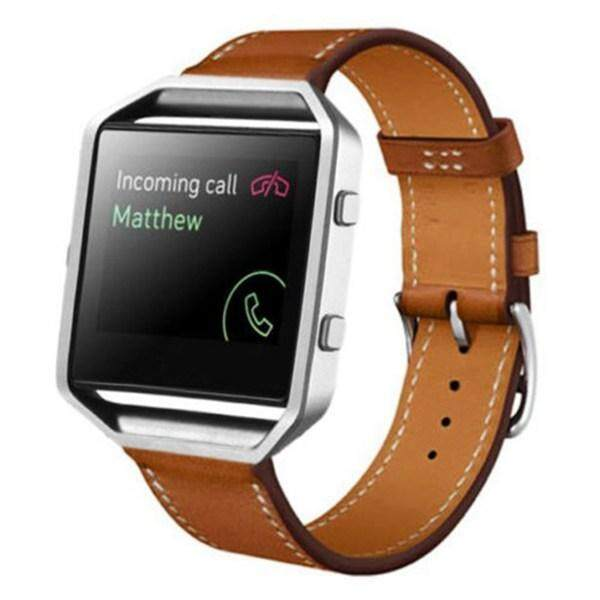 Luxury Leather Watch Band Wrist Replacement Strap For Fitbit Blaze Smart Watch Brown Malaysia