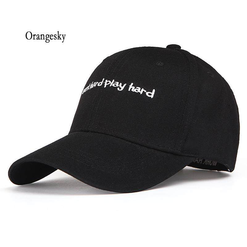 6184a8aa Orangesky Simple Fashion Women Baseball Cap Letter Embroidery Hat Ladies  Girls Hats Summer Sunscreen Casquette Students