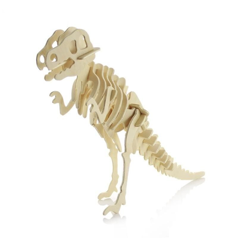 3d Dinosaur Three-Dimensional Puzzle Wooden Simulation Model(tyrannosaurus Rex) By Glimmer.