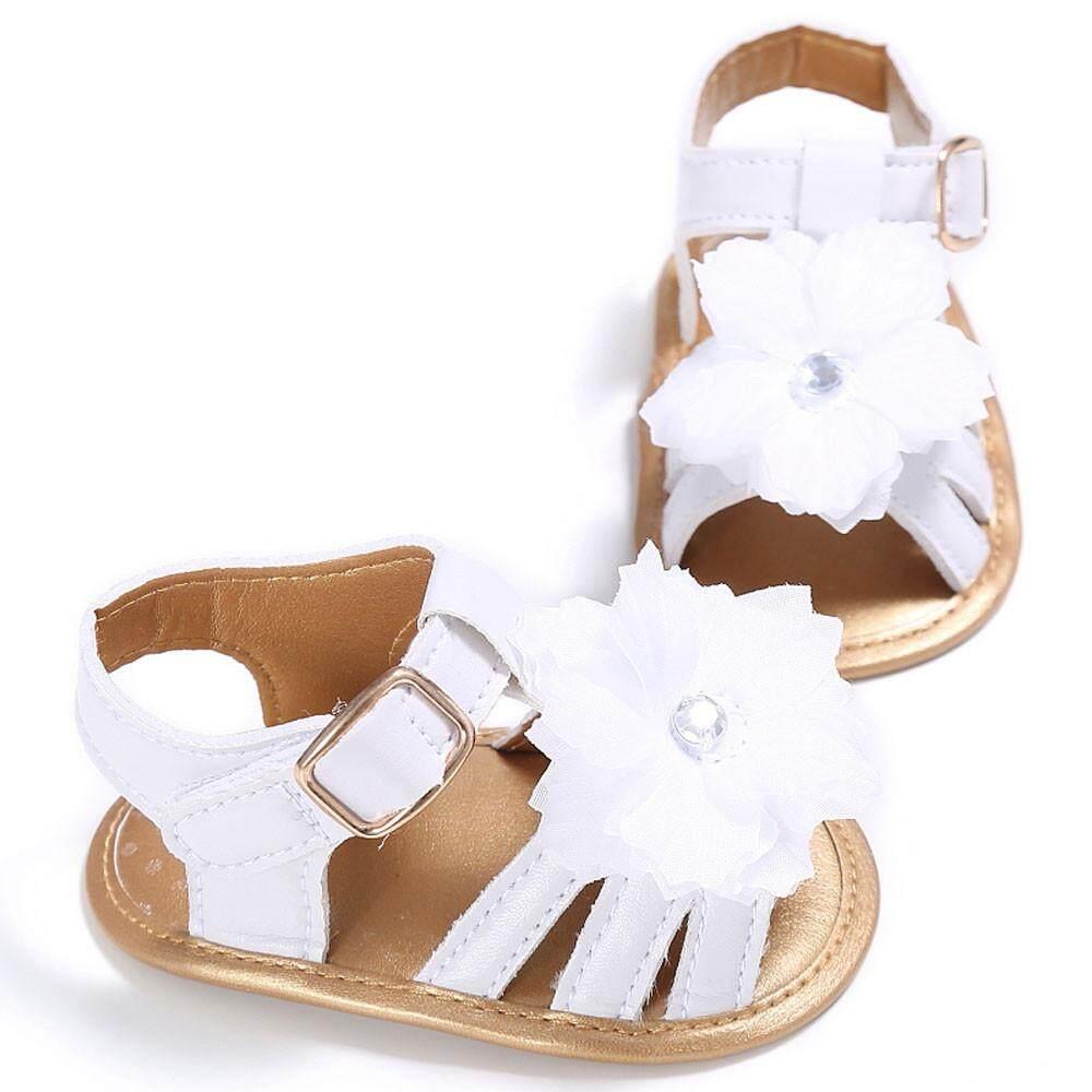 Radocie Toddler Girl Crib Shoes Newborn Flower Soft Sole Anti-Slip Baby Sneakers Bk/11 By Radocie.