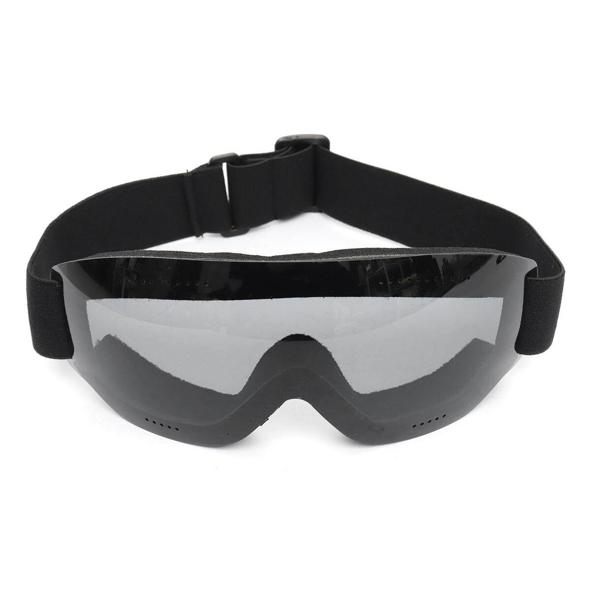 Frameless Anti-fog UV Protection Ski Glasses Skiing Goggles Snowboard Unisex Grey
