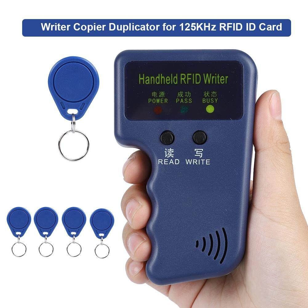 Qianmei Handheld Writer Copier Duplicator for 125KHz RFID ID Card with 5 Tags