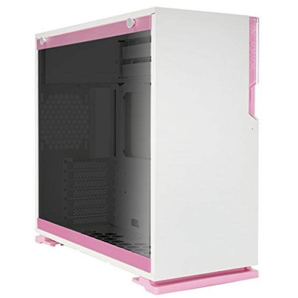 in Win 101 Pink ATX Mid Tower Gaming Computer Case with Tempered Glass White Malaysia