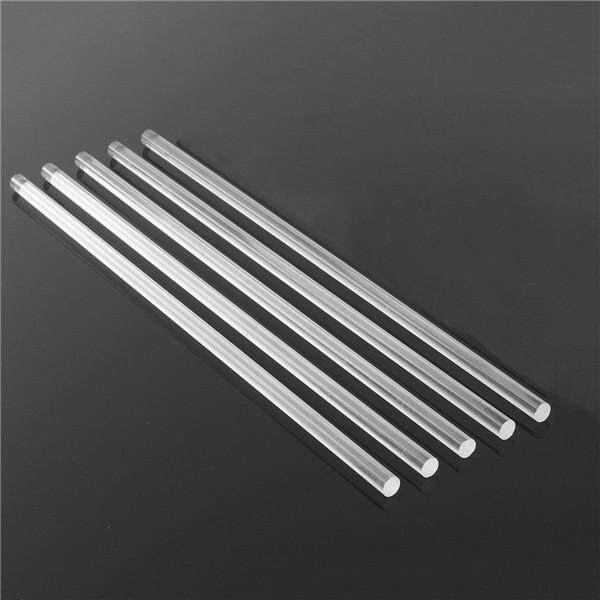 5 Pcs 5/16 Transparent Acrylic Round Rod 12 Inch Length Clear Lucite Bar Pipe