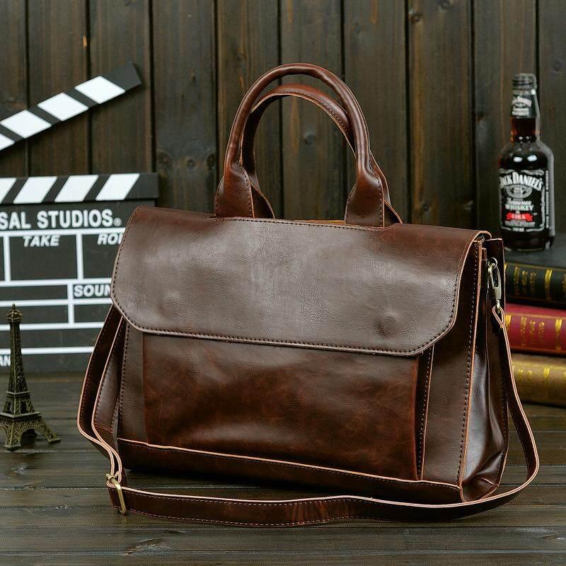 41979eb05cc6 ETONWEAG Vintage Briefcases Men Messenger Bags Brown Luxury Business  Briefcase Document Lawyer Laptop Bag SUN